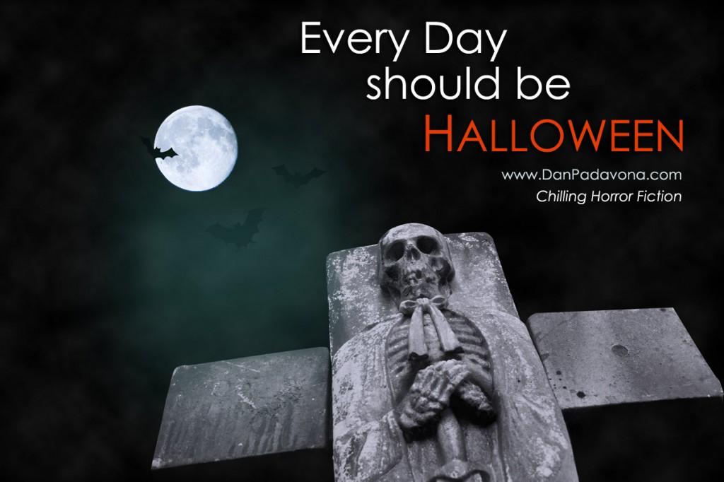 Halloween Grave Skull and Moon