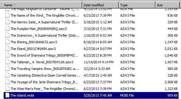 Kindle MOBI files