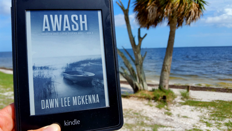 "I read Dawn Lee McKenna's ""Awash"" on the shores of Shell Beach, a stones throw from Apalachicola on Florida's Forgotten Coast."